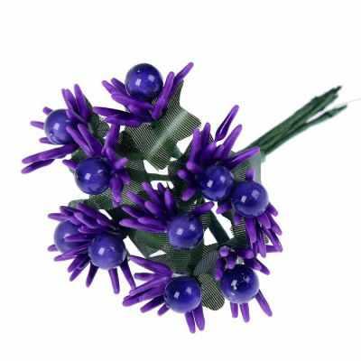 2778549 Декор для творчества Цветок острые лепестки (набор-букет 10 цветков)