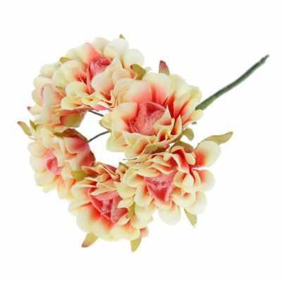 2778553 Декор для творчества Пушистая роза (набор-букет 6 цветков)