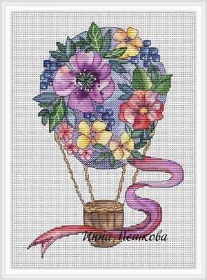 Набор для вышивания Инна Пешкова Воздушный шар - набор