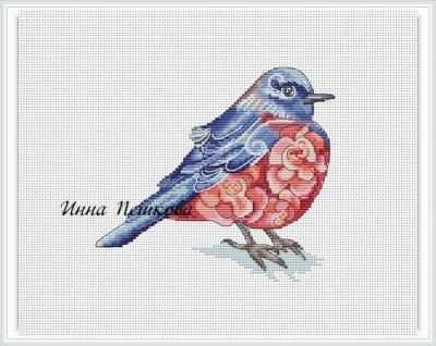 Набор для вышивания Инна Пешкова Фиолетовая птица - набор инна анатольевна купреева игры судьбы