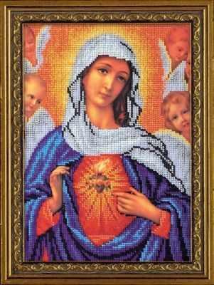 цена Набор для вышивания иконы Кроше (Радуга бисера) B-192 Дева Мария онлайн в 2017 году