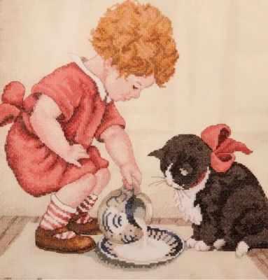 Набор для вышивания Classic Design 4417 Завтрак для котенка