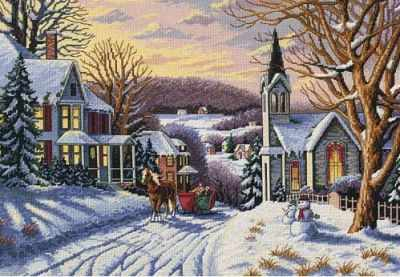4429 Зимняя прогулка - Наборы для вышивания «Classic Design»