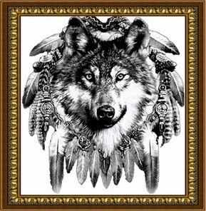 S-135 Ловец снов  волк - Мозаика «PSP»
