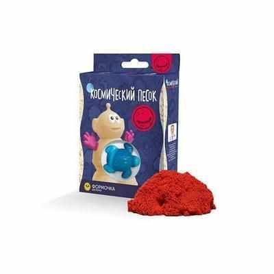 KP015R Игрушки в наборе ТМ Космический песок, красный