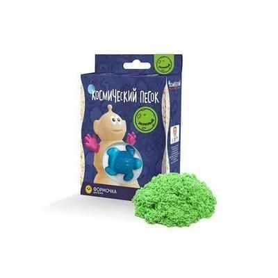 KP015G Игрушки в наборе ТМ Космический песок, зеленый