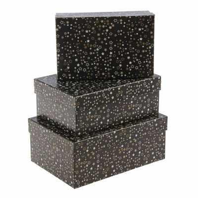 1609080 Набор коробок 3в1  Звездное небо  - Подарочные коробки