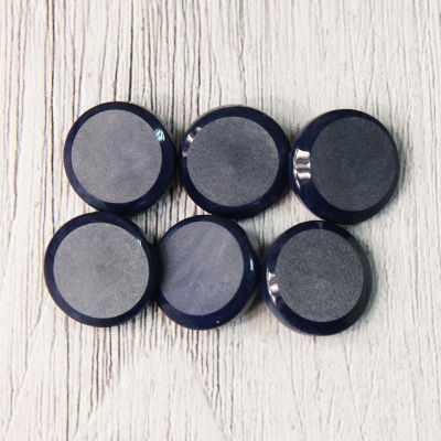 LQ 0033 24 Пуговицы костюмные на ножке-1 № D558 темно-синий, 6 шт
