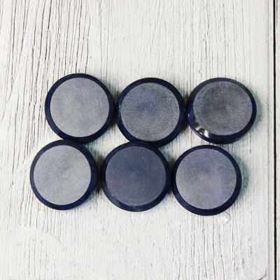 LQ 0033 32 Пуговицы костюмные на ножке-1 №D558 темно-синий, 6 шт