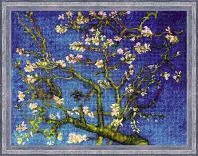 1698  Цветущий миндаль  по мотивам картины Ван Гога - Наборы для вышивания «Риолис»