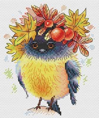 Набор для вышивания МП Студия М-236 Осенняя пташка