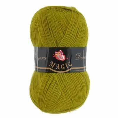 цена Пряжа Magic Пряжа Magic Angora Delicate Цвет.1110 Оливково-зеленый онлайн в 2017 году