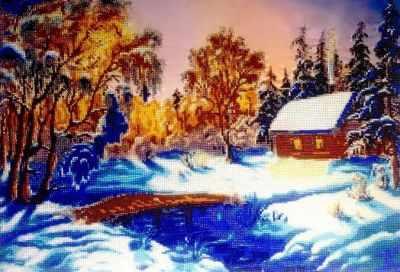 Набор для вышивания FeDi КВ711 Зимний вечер - набор
