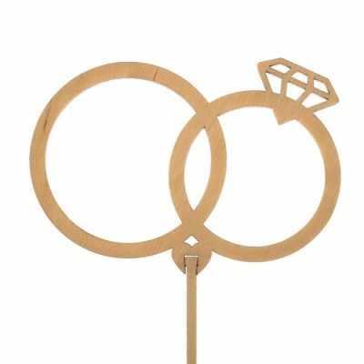 Украшение для выпечки - 2885846 Топпер «Свадебные кольца», натуральный