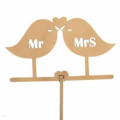 Украшение для выпечки - 2885852 Топпер «Птички Mr&Mrs», натуральный