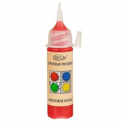 3113425 Краска акриловая 20мл для точечной росписи Пике DecArt Алая