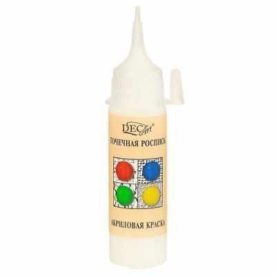 3113429 Краска акриловая 20мл для точечной росписи Пике DecArt Белая
