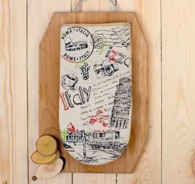 Текстиль для кухни - 2515488 Рукавица для духовки Италия полулён шелкография