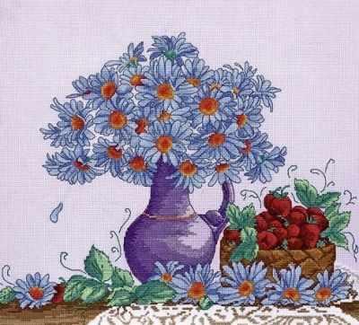 968  Садовые ромашки  - Наборы для вышивания крестиком «HobbyPro»