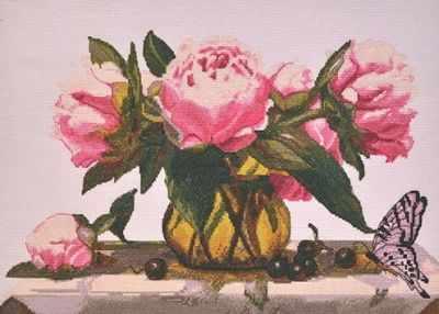969  Розовые пионы  - Наборы для вышивания крестиком «HobbyPro»