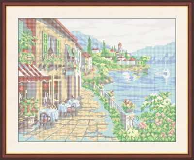Основа для вышивания с нанесенным рисунком Матрёшкина КАЮ4007 Утро на море - схема для вышивания (Матрёшкина)