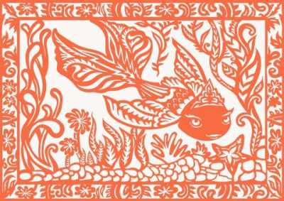 Вытынанки Вытынанка 430314 Базовый набор Золотая рыбка (оранжевый)