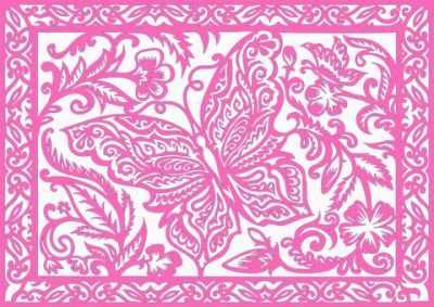 Купить со скидкой 330316 Базовый набор Бабочка в цветах (розовый)