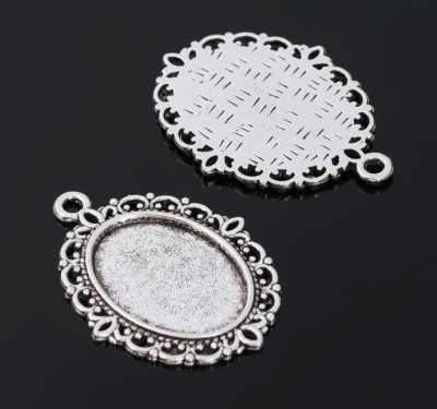 1508479 Рамка с сеттингом, цвет черненое серебро