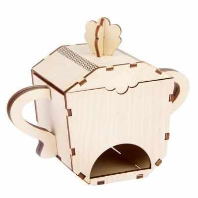 2078108 Чайный домик из фанеры для декора Сахарница