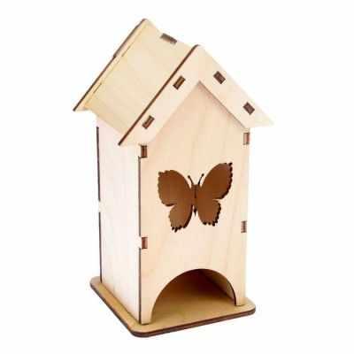 2078111 Чайный домик из фанеры С бабочкой (мини)