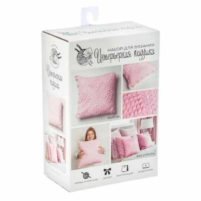 2117334 Набор для вязания Интерьерная подушка Розовые сны
