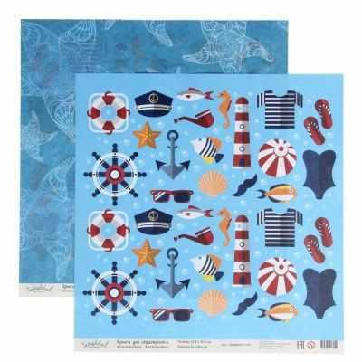 2481851 Бумага для скрапбукинга Морской. Ассорти и морские звезды