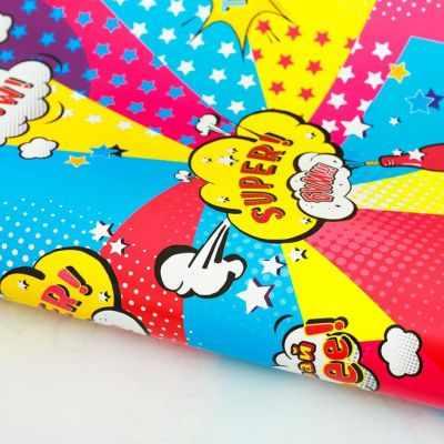 2885309 Бумага упаковочная глянцевая Комикс