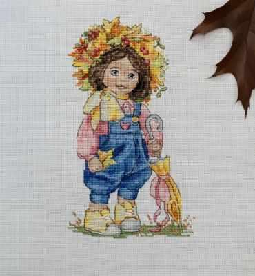 К-100 Осенняя девочка (Мережка) - Наборы для вышивания «Мережка»