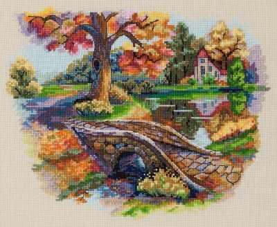 К-103 Осенний пейзаж (Мережка) - Наборы для вышивания «Мережка»