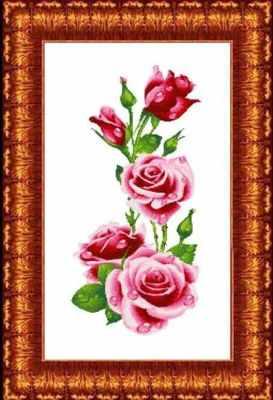 КТКН 128 (р) Розы  набор (Каролинка) - Наборы для вышивания «Каролинка»