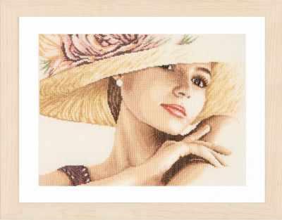 Набор для вышивания Lanarte PN-0168602 Lady with Hat