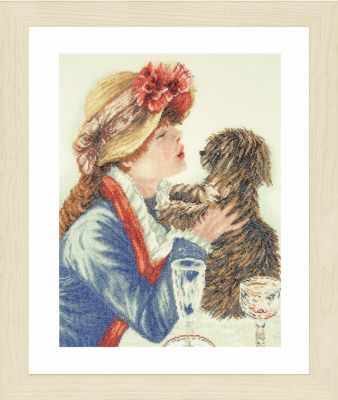 Набор для вышивания Lanarte PN-0168607 Girl and Dog