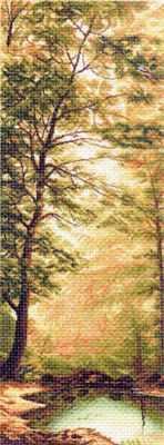 1359 Дыхание осени  рисунок на канве (МП) - Рисунок на ткани «Матрёнин посад» (канва с рисунком)