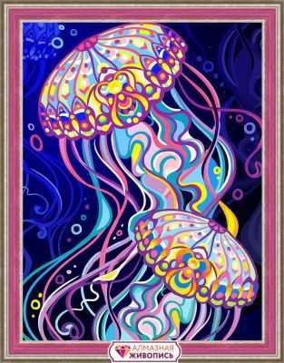 Пара медуз (АЖ-1579) - картина стразами
