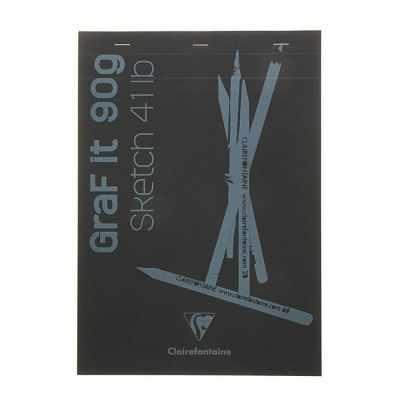 Бумага и картон Clairefontaine 1734043 Блокнот для рисунков Graft It, чёрный