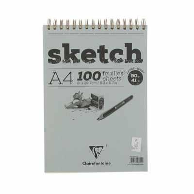 2121272 Блокнот для рисунков  Clairefontaine Sketch, кремовый