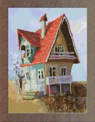 1НКЦ-028 Б Домик (большой) - Наборы для вышивания «Художественные мастерские»