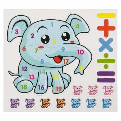 Набор для детского творчества - 2832908 магнитов с магнитным пазлом Слоник учится считать