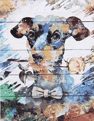 Раскраска по номерам DALI WS034 Яркий пес