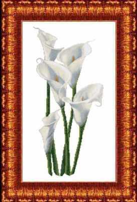 КТКН 131 (р) Каллы  набор (Каролинка) - Наборы для вышивания «Каролинка»