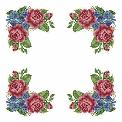 Основа для вышивания с нанесённым рисунком Каролинка ККС/хб/бязь 012 Заготовка для салфетки - схема для вышивания (Каролинка)
