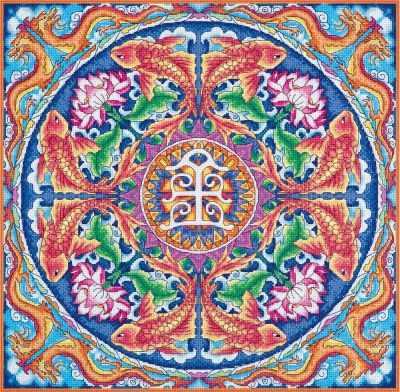 СО-1968  Мандала Богатство  - Наборы для вышивания «Panna»