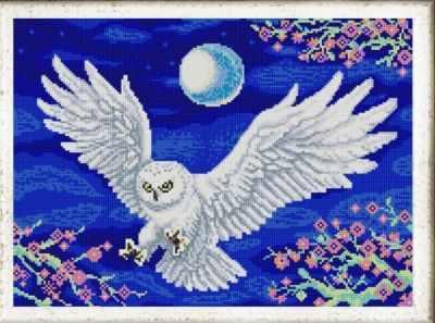 НИК 9994 Летящая сова - рисунок на ткани