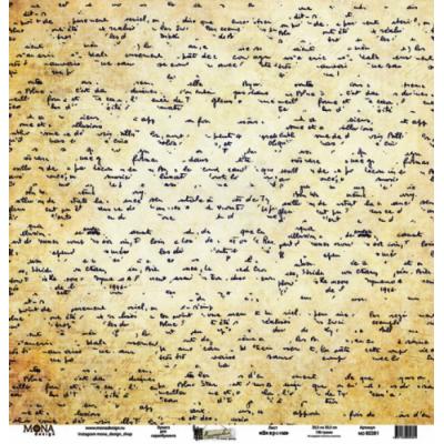 Бумага для скрапбукинга MoNa design 80381 Лист